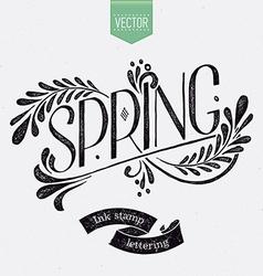 Vintage spring banner vector
