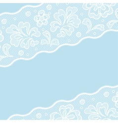 Vintage lace background ornamental flowers vector