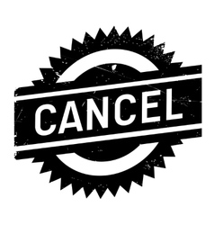 Cancel stamp rubber grunge vector