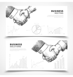 Business meeting banner set vector