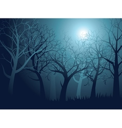 Abstract forest landscape7 vector