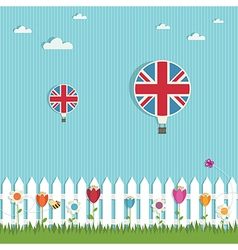 Great britain hot air balloons vector