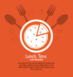 Lunch time design menu icon flat vector