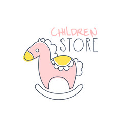 children store logo colorful hand drawn vector image