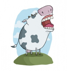 Crazy cow vector