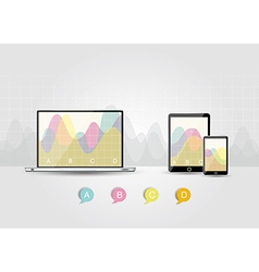 Digital Tablets Infographic Elements IT Industry vector image