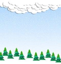 Paper winter wood vector image