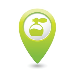 Perfume icon green map pointer vector