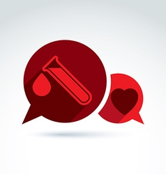 Donor blood heart and Circulatory system icon vector image