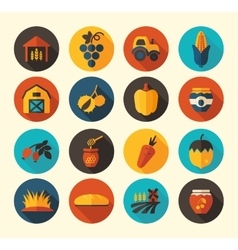 Autumn harvest thanksgiving flat icon vector