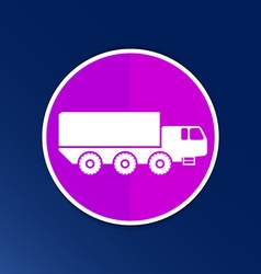 Military truck icon button logo symbol concept vector