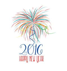 Happy new year fireworks 2016 holiday background vector