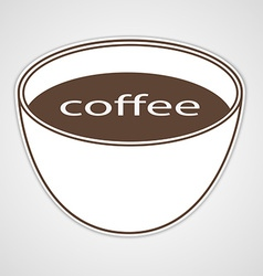 Stickers to advertise coffee vector