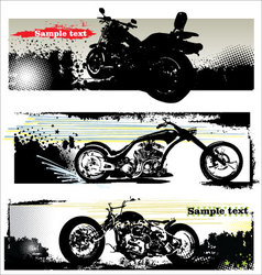 grunge motorcycle banners vector image