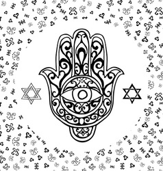 Hand drawn sketch of traditional jewish religious vector