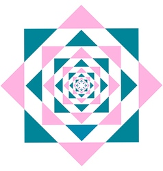 Kaleidoscope flower triangle vector