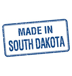 Made in south dakota blue square isolated stamp vector
