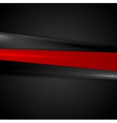Abstract red black smooth stripes background vector