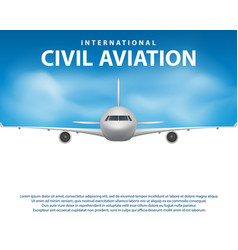 banner poster flyer with airplane background vector image