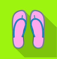 beach flip flopssummer rest single icon in flat vector image vector image