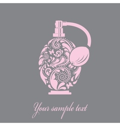 Beautiful perfume bottle made of the leaf pattern vector