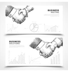 Business meeting banner set vector