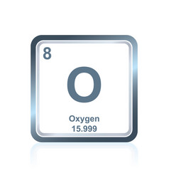 Chemical element oxygen from the periodic table vector