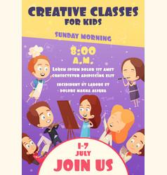 children classes poster vector image