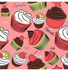 Cupcake seanless vector image vector image