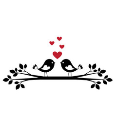 cute birds in love vector image vector image