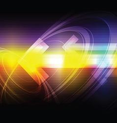 fantasy arrow background vector image vector image