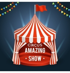 Funfair circus poster with tent vector