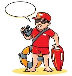 Funny lifeguard children vector