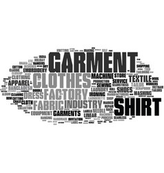 garment word cloud concept vector image vector image