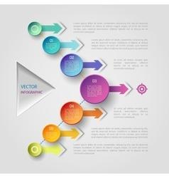 Geometric infographic concept vector