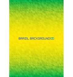 Gradient geometric background Brazil flag colors vector image vector image