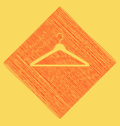 hanger sign red scribble vector image