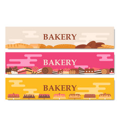 Horizontal bakery banners vector
