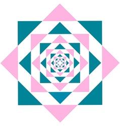 Kaleidoscope flower triangle vector