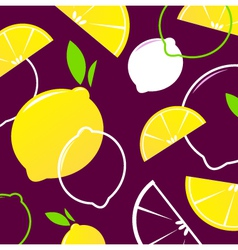 lemon slices vector image vector image