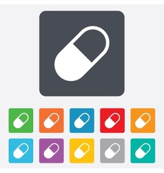 Medical pill sign icon drugs symbol vector