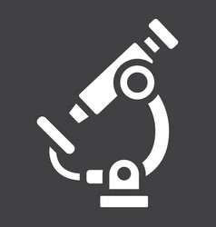 microscope solid icon education and science vector image vector image