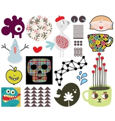 Mix of different images and icons vol67 vector image vector image