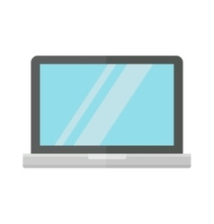 Modern laptop computer isolated on white vector image vector image