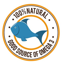 Omega 3 design vector image