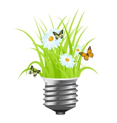 power saving grass vector image vector image