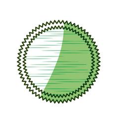 Round stamp label vector