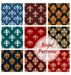 Royal paterns of stylized floral decor ornament vector image
