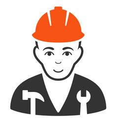 Serviceman flat icon vector