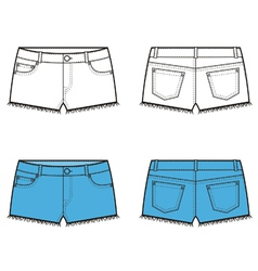 Shorts vector image vector image